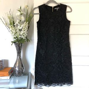 Karl Lagerfeld Paris Lace Embroidered Dress 0